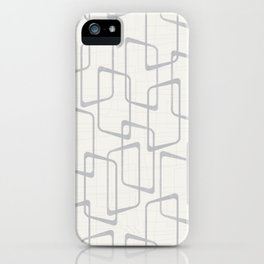 Reverse Silver Gray Retro Geometric Pattern iPhone Case