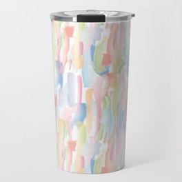 Abstract Brushstrokes - Pastels Travel Mug
