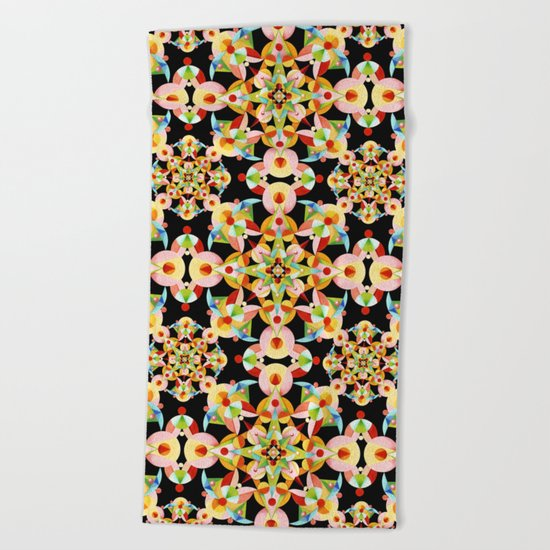 Kaleidoscope Fiesta Beach Towel