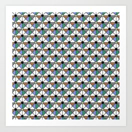 Playing Origami Flower Geometry - Color Floral Play #1 Pastel Art Print