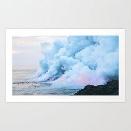 Pastel volcano smoke Art Print