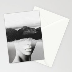 silence of the mountain Stationery Cards