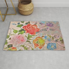 Spring Floral - Painterly Rug