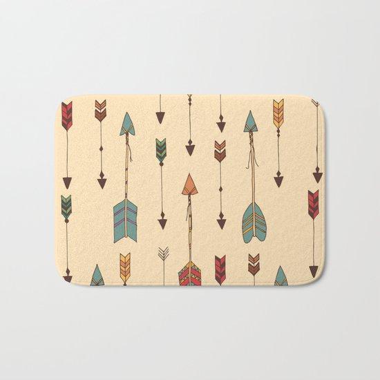 Vintage Tribal Arrows Bath Mat
