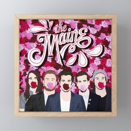 The Maine roses Framed Mini Art Print