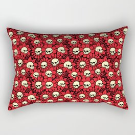 Skulls in Bloom Rectangular Pillow
