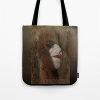 mask Tote Bags featuring Mask by Judith Lee Folde Photography & Art