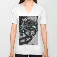bike V-neck T-shirts featuring bike by gzm_guvenc