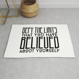 Defy Your Own Limits Rug