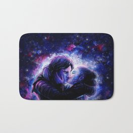 Lovers in Space Bath Mat