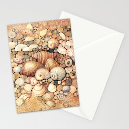 Shells on Sand Stationery Cards