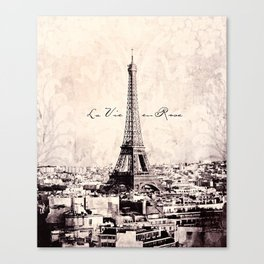 la Vie en Rose vintage Canvas Print