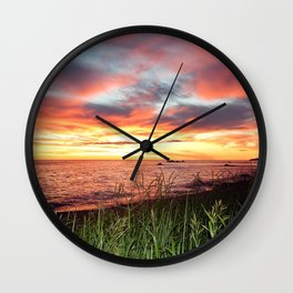 Dawn and the Grass Wall Clock