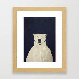 Polar Bear - Stars Up Above Framed Art Print
