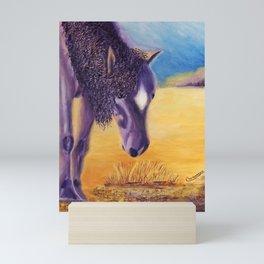 We graze   On broute Mini Art Print