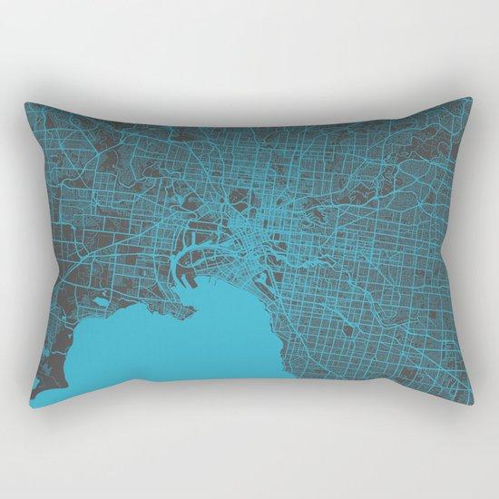 Melbourne map Rectangular Pillow