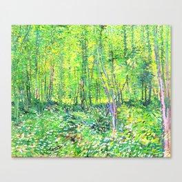 Vincent Van Gogh Trees & UnderwooD Canvas Print