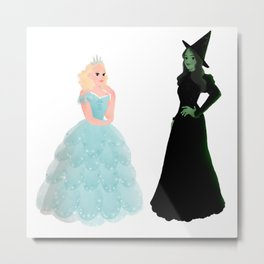 Elphaba and Glinda Metal Print