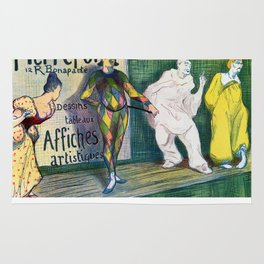 Pierrefort art gallery clowns Rug