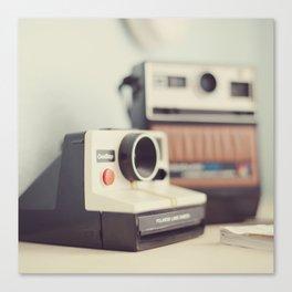 Vintage Cameras. Canvas Print
