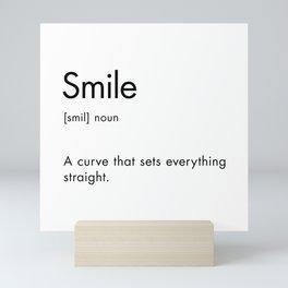 Smile Definition Mini Art Print