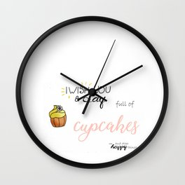 Cupcake day! Wall Clock