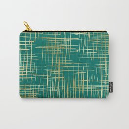 Crosshatch Green Carry-All Pouch