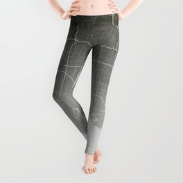 Los Angeles - Vintage Map and Location Leggings