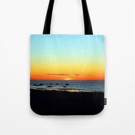 Traditional Seaside Sunset Tote Bag