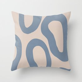 Abstract minimal dish soap home decor art, groovy, simple  Throw Pillow