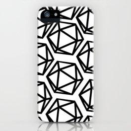 D20 Pattern Large iPhone Case
