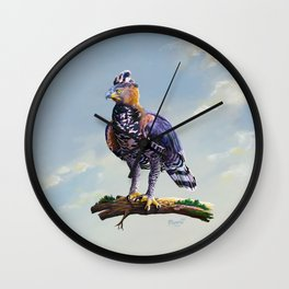 African crowned eagle  Wall Clock