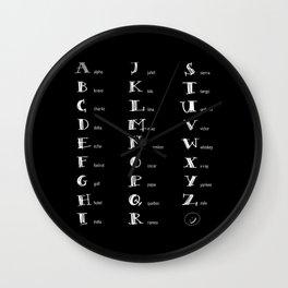 Phonetics Wall Clock