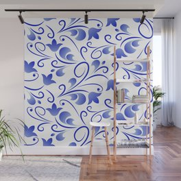 Blue flowers bells Wall Mural