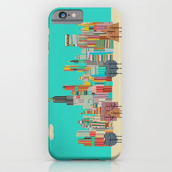 Chicago city (summer days) iPhone & iPod Case