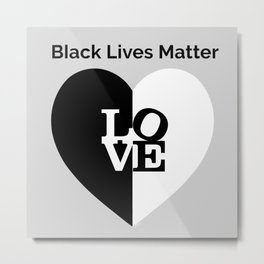 Black Lives Matter-60's Love Design Metal Print