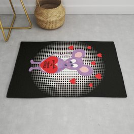 You Make My Heart Smile Valentine Mouse With Hearts Rug