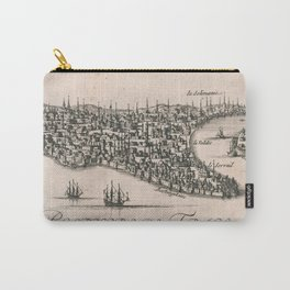 Vintage Pictorial Map of Constantinople (1696) Carry-All Pouch