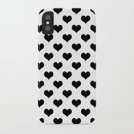 White Black Heart Minimalist iPhone Case