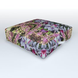 Summer leaves kaleidoscope Olbrich Botanical Gardens Outdoor Floor Cushion