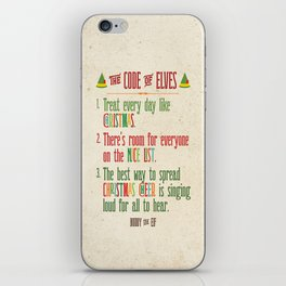 Buddy the Elf! The Code of Elves iPhone Skin