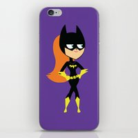 batgirl iPhone & iPod Skins featuring Batgirl by Adrian Mentus