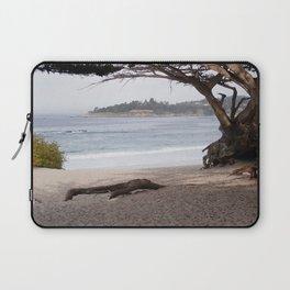 Beach with Cypress Tree Laptop Sleeve