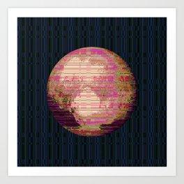 Stripey Pluto Art Print
