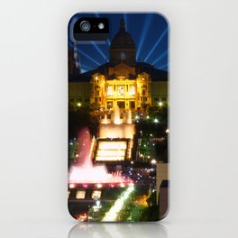Barcelona at Night iPhone Case