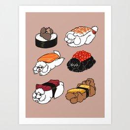 Sushi Poodle Art Print