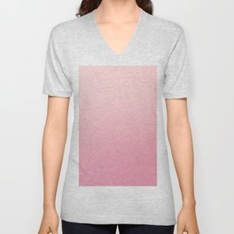 ROSE PETALS - Minimal Plain Soft Mood Color Blend Prints Unisex V-Neck
