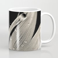 feather Mugs featuring Feather by Dora Birgis