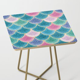 Glittery Mermaid Scales Side Table