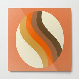 Orange Oval Metal Print